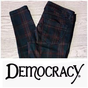 Democracy | Blue & Red Plaid Size Zipper Pants (4)